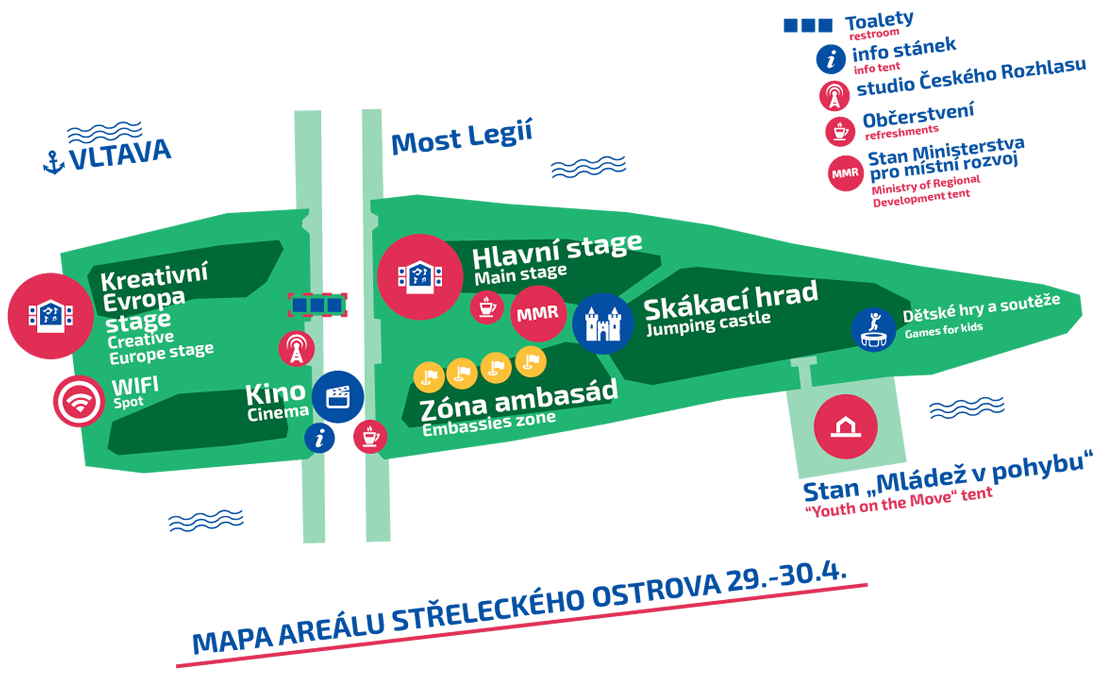Mapa Open Air festivalu